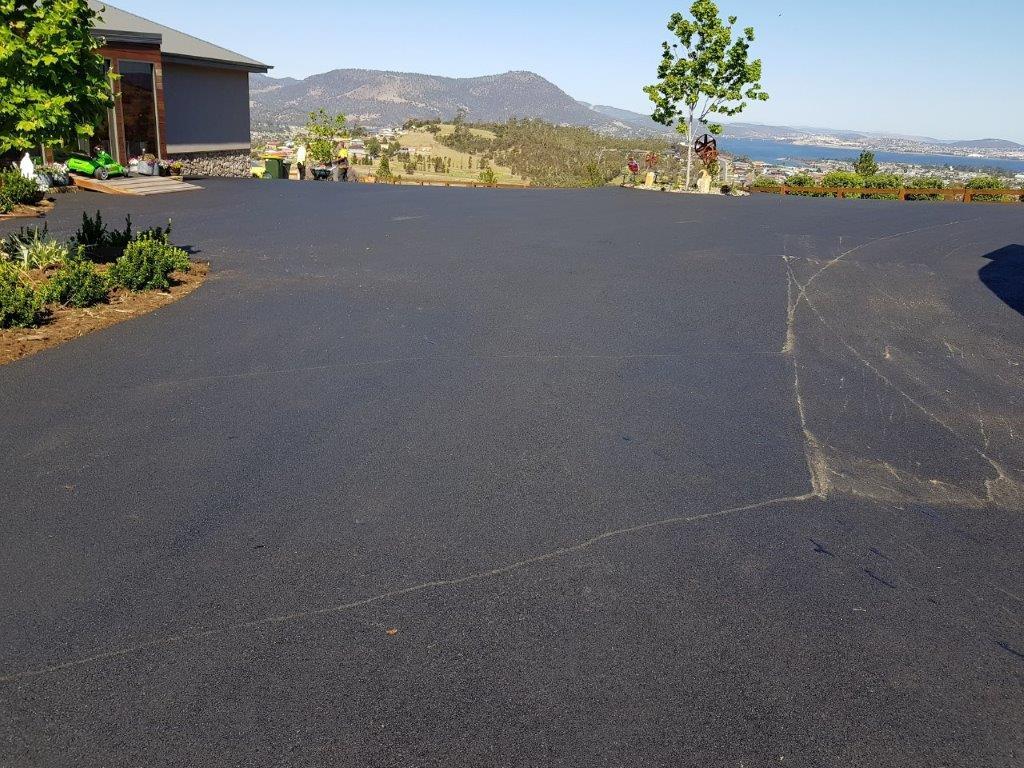 Acreage property driveways Hobart Tasmania