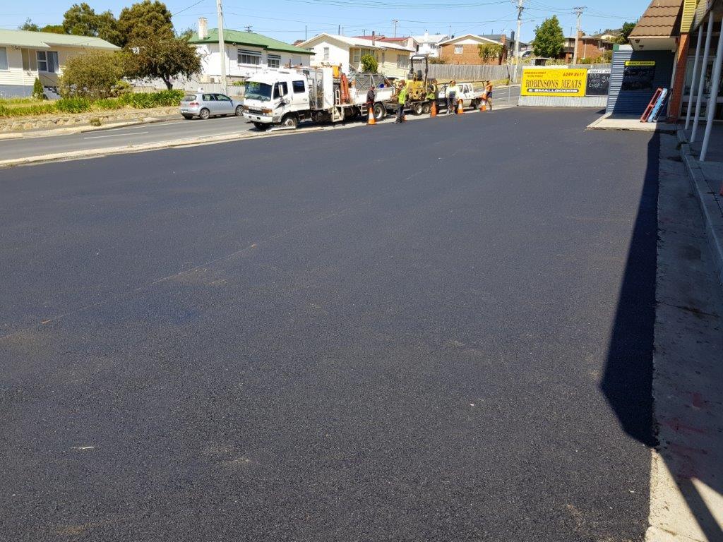 Bitumen Car Park Road Hobart Tasmania