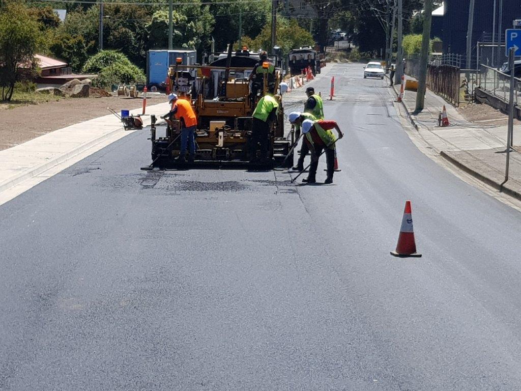 Highway Road Resurfacing Asphalt Hobart Tasmania