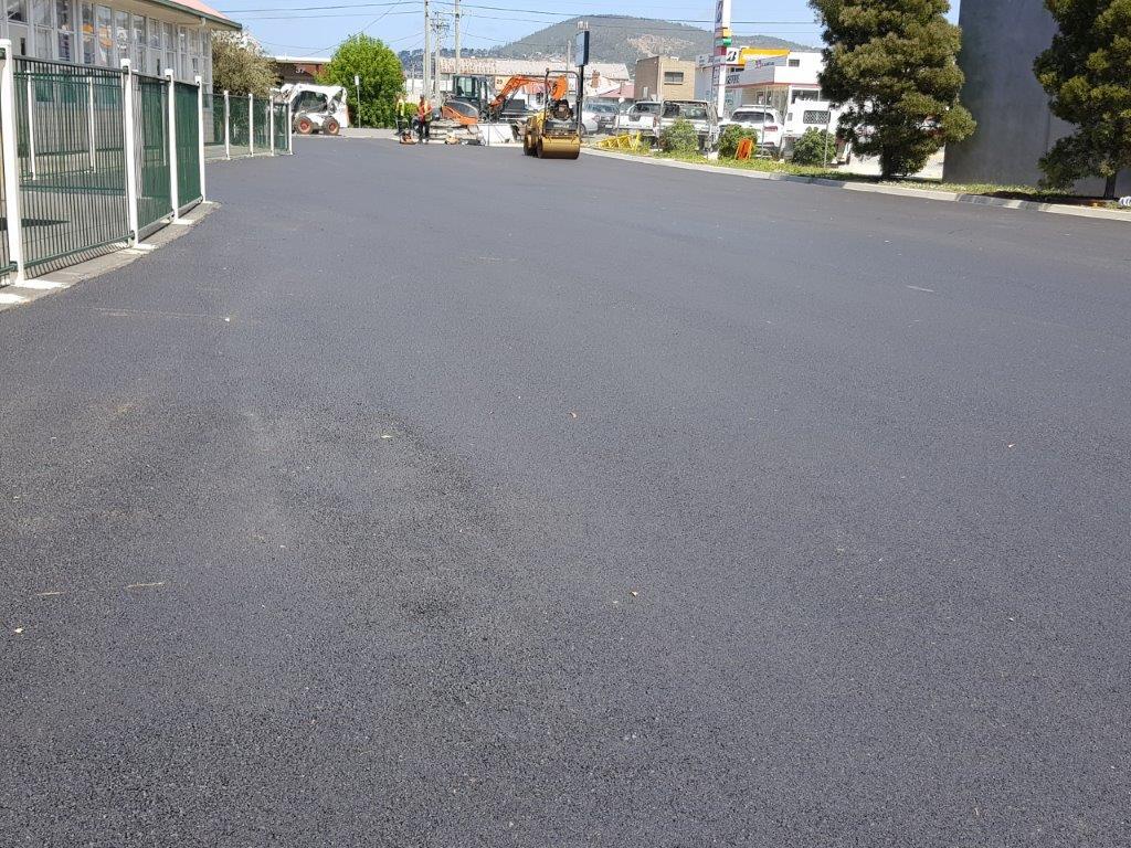 Industrial Estate Road Asphalting Hobart Tasmania