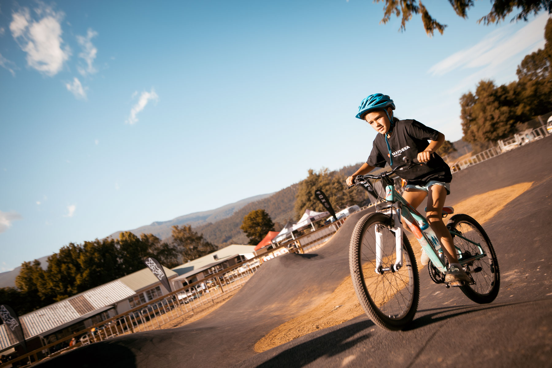 Maydena Bike Park Pump Track Asphalting Hobart Tasmania