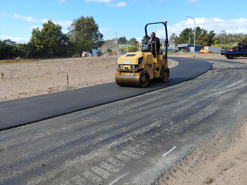 development road infrastructure highway surfacing and resurfacing hobart tasmania