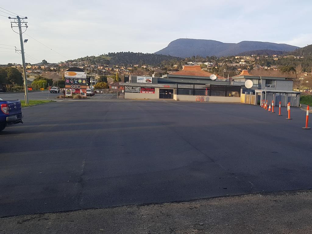 shopping centre car park surfacing and resurfacing hobart tasmania